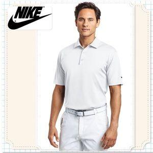 🆕White NIKE Dri Fit Polo Sport Shirt. LRG. NWT
